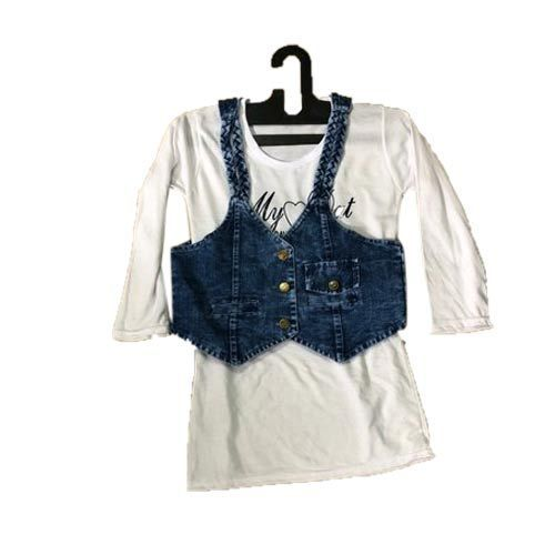 68d4ec022ea Livanshi Fashion Blue Girls Denim Jacket