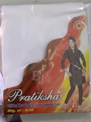 Pratiksha Churidar Ladies Viscose Plain Legging, Size: XL
