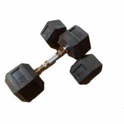 Swift Fitness Mild Steel Rubber Coated 5 Kg Hex Dumbbell