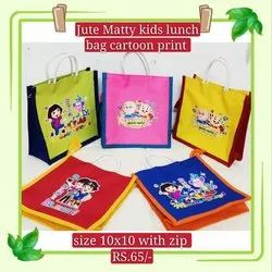 jute matty kids lunch bag