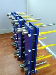 Blue Painted Or SS304 Stainless Steel And Titanium Plate Heat Exchanger