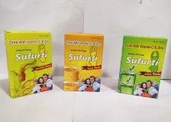 sufurti Lemon VITAMIN C Zinc Sulphate DEXTROSE Energy Drink, Pack Size: 105 Gm, Packaging Size: Sachet Packing