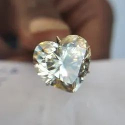Near White Loose Moissanite Heart Shape Moissanite