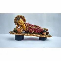 Sleeping Wooden Buddha Statue