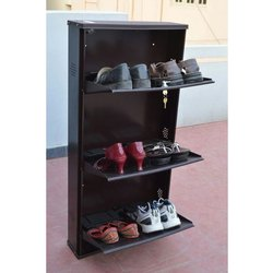 Acarr Brown Stainless Steel Shoe Rack, For Home