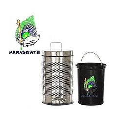 Parasnath Steel 22 Litre Perforated Pedal Bin