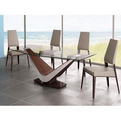 Glass Dining Table In Ahmedabad ग ल स ड इन ग ट बल