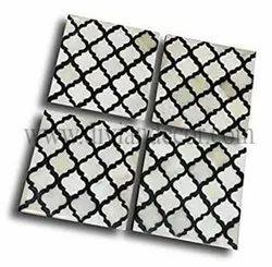 Moroccan Grid Bone Inlay Coasters