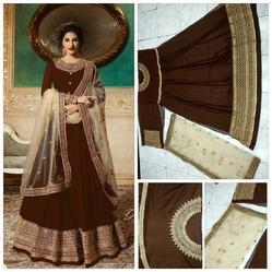 Embroidered Regular Gorget With Embroidery Work Salwar Suit