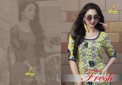 Kavya Fresh Designer Anarkali Cotton Kurtis