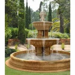 Sandstone Brown Marble Decorative Water Fountain