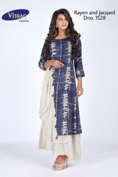 Fancy Cowl Kurti with Handwork