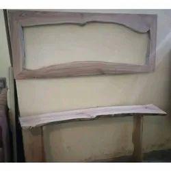 Brown Raw Wooden Mirror Frame, Size/Dimension: 4X2 Feet