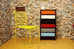 Yellow Metal Chair, For Outdoor