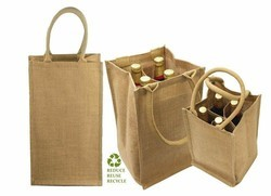 4 Bottle Jute Bag