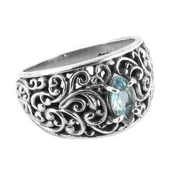 Great Blue Topaz 925 Sterling Silver Rings