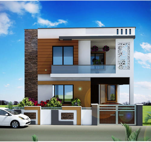 Home Design Exterior Ideas In India: Duplex House Plans In Noida
