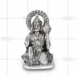 White Metal Hanuman Murti