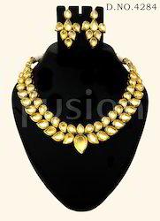 Antique Vilandi Kundan Necklace Set
