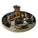 Brass Maharaja Thali Set with Rice Bowl