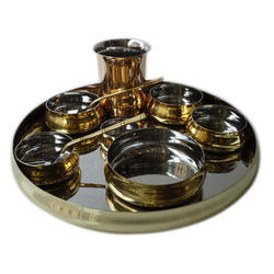Brass Maharaja Thali Set with Rice Bowl
