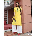 Xl Andxxxl Yellow Ladies Kurti