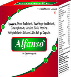 Lycopene Green Tea Extracts Black Grape Seed Extracts Ginseng Extracts Spirulina Biotin Vitamins