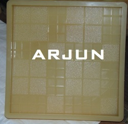Brown Chequered Tile Mould