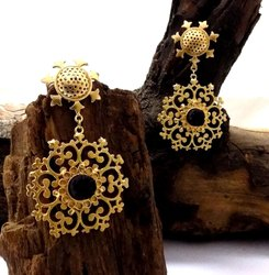 Gold Plated Star Designed Earring Beautiful Party Wear Earring