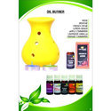 Ceramic Oil Lemon Perfumed Burner Set