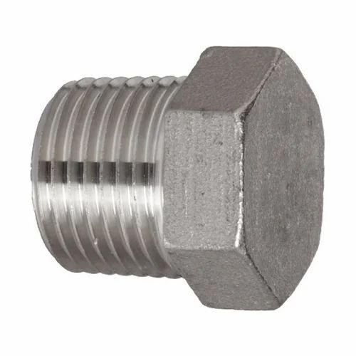 "1//2 NPT Hex Head Pipe Plug Fitting Black 1//2/"""