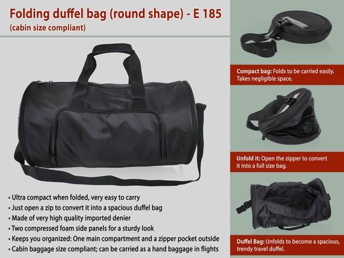 28f8812eac Folding Duffel Bag (round Shape) at Rs 750  piece
