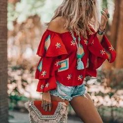 Off Shoulder Crop Tops
