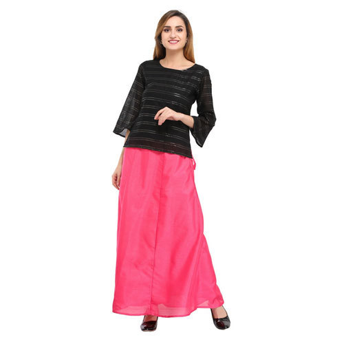 Cottinfab Solid Pink Ethnic Long Skirts, Size: 28, 30, 32, 34, 36