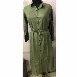 Casual Green Ladies Robe