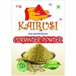 Kairusi 1 KG Coriander Powder, Packaging Type: Packet