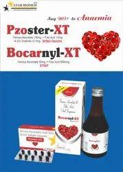 Pzoster-XT Ferrous Ascorbate Folic Acid Sulphate Monohydrate, Packaging Type: 3x10 Blister