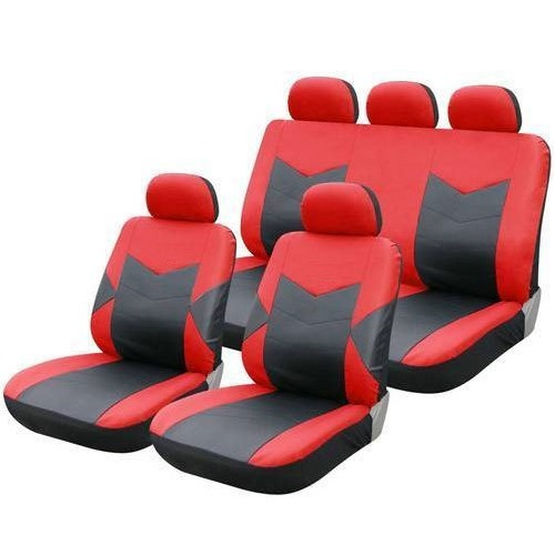 Neoprene Fabric Red And Black Car Seat Cover