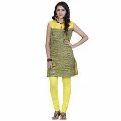 Feather Soft Plain Ladies Yolk Yellow Churidar Legging