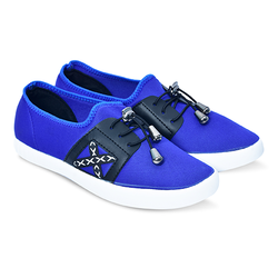 Blue Black Casual Slip On Shoes