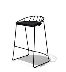 Industrial Bar Stool With Fabric Seat, Counter Chair