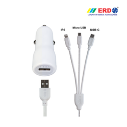 CC 21 Multi 91 White Car Charger