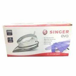 Power(Watt): 1000 watt Metal Singer Eva Dry Iron, Warranty: 2 Years