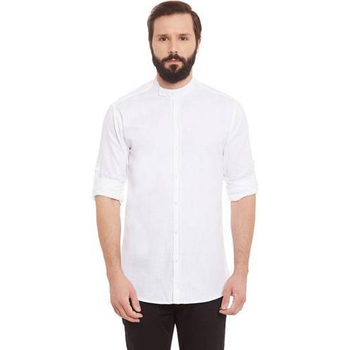 5dcfbc320339 -54% Myti Cotton Full Sleeves Round Neck Plain Party And Casual Wear White  T Shirt For Men