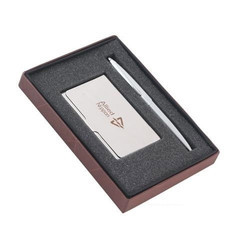 Metal Pen and Card Holder Set