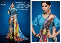 Rachna Crepe Silk Digital Printed Serene Paula Catalog Saree For Women 12
