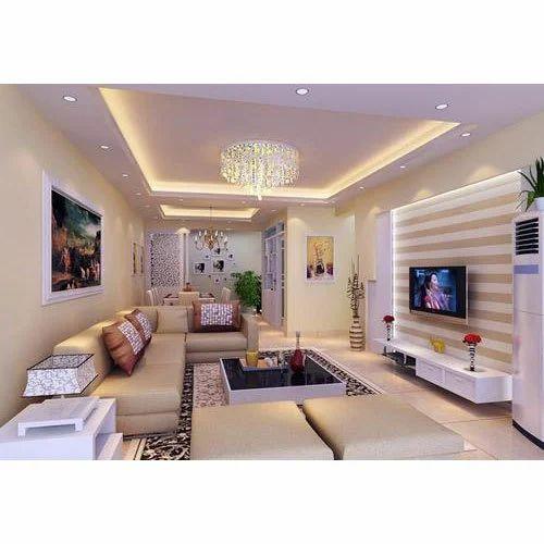 Living Room False Ceiling Installation Service In Karamana