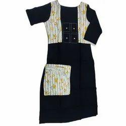 Party Wear Stitched Ladies Cotton Designer Suit, Wash Care: Machine wash