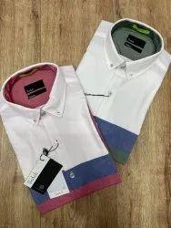 Cotton Collar Neck Snitch Original Oxford Panel Shirts