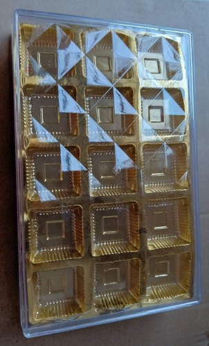Golden 15 Chocolate Packaging Plastic crystal Box